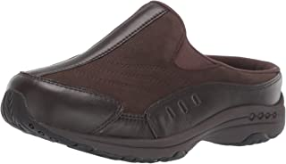Easy Spirit Women's Traveltime 234 Clogs, Chocolate Torte Leather, 9 Wide