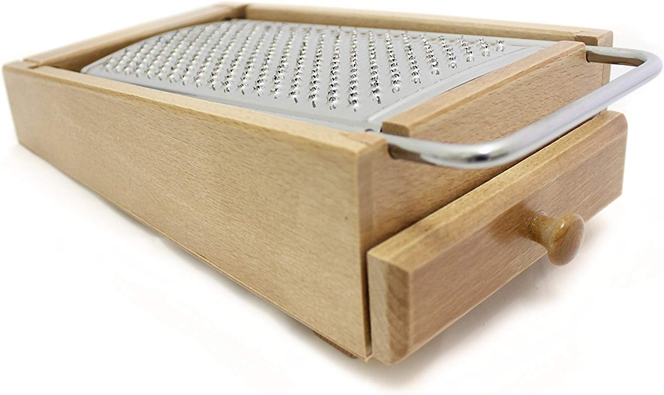 Paderno World Cuisine A4982208 Cheese Grater Box With Drawer Brown