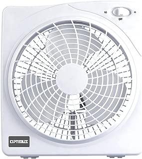 Optimus F-1022 10-Inch 2 Speed Box Fan, White