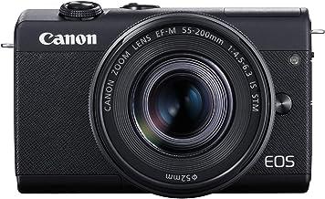 Canon EOS M200 Cámara digital compacta sin espejo Vlogging con lente EF-M 0.591-1.772 in, soporte de vídeo vertical 4K, LCD de panel táctil de 3,0 pulgadas, Wi-Fi integrado y tecnología Bluetooth, color negro