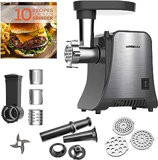GoWISE USA GW88010 800 vatios Max Grinder & Food 4 en 1 Molinillo eléctrico de carne y procesador de alimentos, pequeño, a...