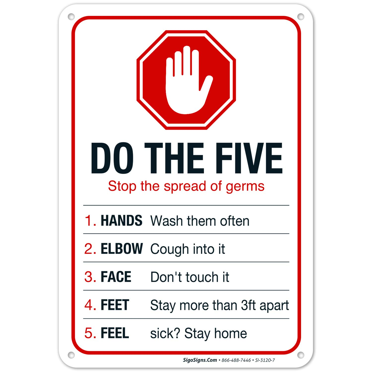 Do The Five Sign famous Safety Warning Rust 10x7 .0 Free Inches Manufacturer OFFicial shop