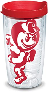 Tervis Ohio State Buckeyes Mascot Colossal Tumbler with Wrap and Red Lid 16oz, Clear