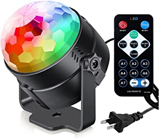 Sound Activated Party Lights with Remote Control Dj Lighting, RGB Disco Ball, Strobe Lamp..