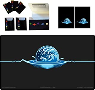 1 Iconic Elemental Double Deck Box Plus Blue Water Symbol PLAYMAT and 100 Gloss Sleeves (fits MTG Mana Force of Will Card...