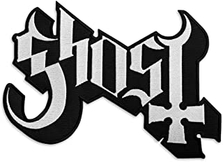 Ghost BC Band Logo Patch - Rock Emblem Embroidered Iron-on Patches - Heavy Metal Embroidery Emblem – Iron On and Sew On Ap...