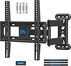 Mounting Dream TV Wall Mount Bracket Swivel and Tilt for Most 26-55 Inch LED, LCD and OLED Flat Screen TVs up to VESA 400x400mm and 27 kg with Fischer Wall Plug, Corner TV Bracket MD2377-02