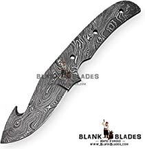 Hand Forged Damascus Steel Blank Blade 8.00