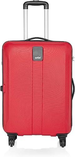 Safari Thorium Sharp Antiscratch 66 Cms Polycarbonate Red Check-In 4 wheels Hard Suitcase