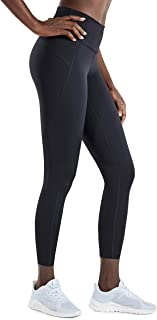 CRZ YOGA Women's High Waist Squat Proof Compression Workout 7/8 Tight Leggings With Pocket-25 Inches