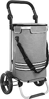 SONGMICS Wózek na zakupy, składany, stabilny wózek na zakupy, z kieszenią chłodzącą, duża pojemność 35 l, wielofunkcyjny, ...