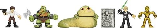STAR WARS Playskool Heroes Jedi Force Jabba's Palace Rescue Set