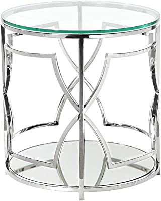 96a01fd0a8695 Amazon.com: Silver Orchid Grant Gold/Glass Metal Eyelet Accent Table ...