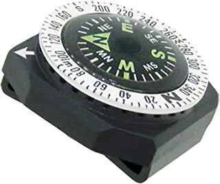 Sun Company GoCompass - Micro Orienteering Wrist Compass   Watch Band or Paracord Bracelet Compass with Rotating Bezel