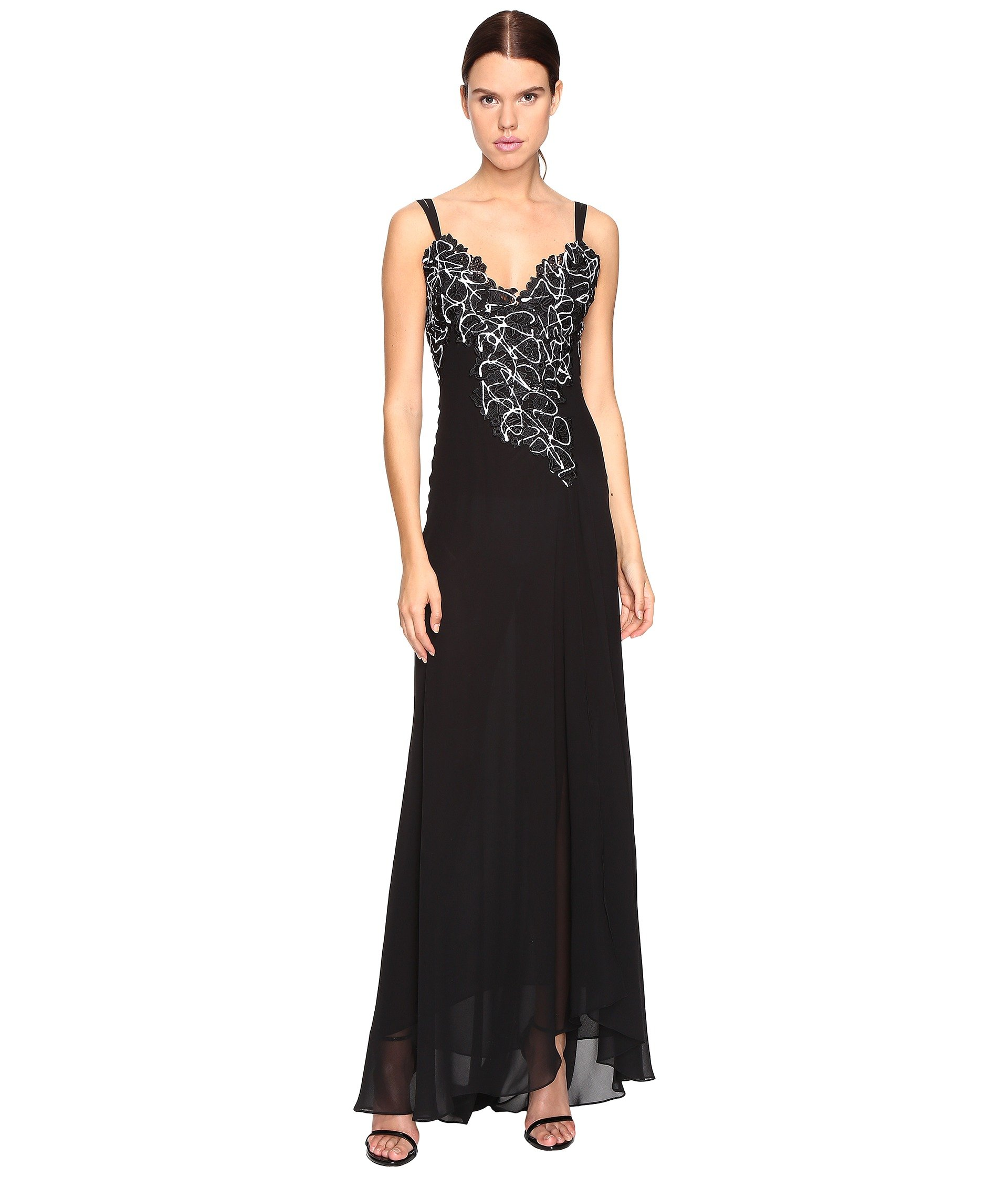 VERSACE LONG EVENING GOWN, NERO | ModeSens