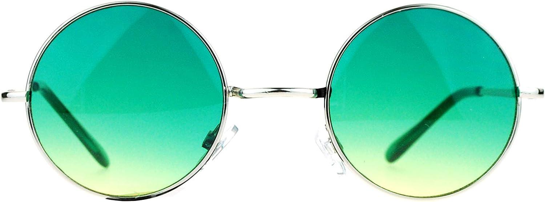 SA106 Memphis Mall Summer New Shipping Free Shipping Color Gradient Lens Circle Round Sungla Hippie