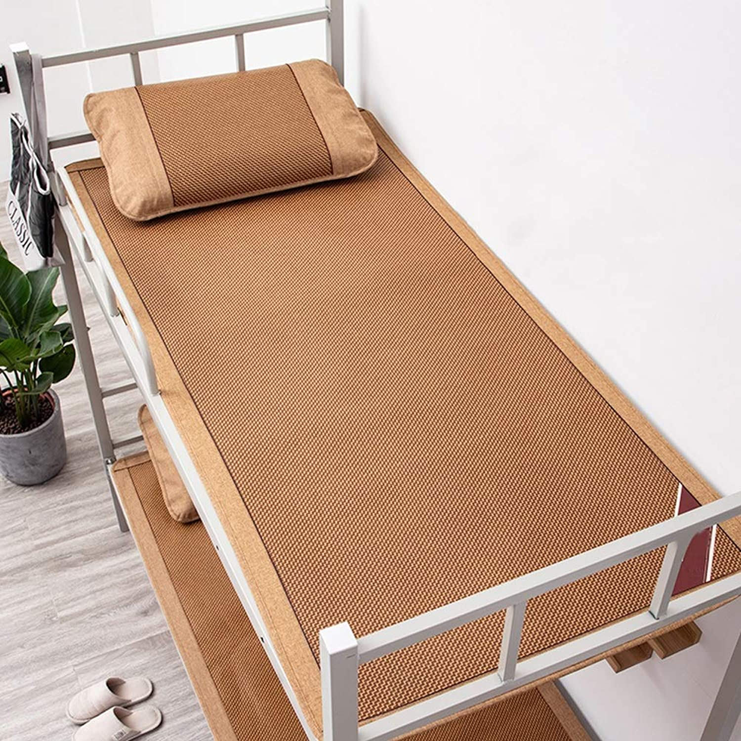 Mattress - Rattan Mat, Single Student Dormitory Bedroom Mat, Summer Ice Silk Mat, Double Sided Can (Size   1.2m1.95m 47.2x76.8in)