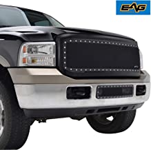 EAG Black Stainless Steel Wire Mesh Grille with ABS Shell Fit for 05-07 Ford Super Duty F250/F350/F450/F550