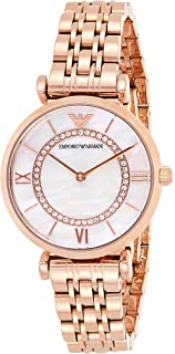 Emporio Armani Wrist Watch For Women, AR1909, Rose Gold