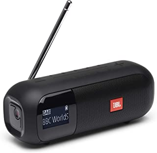JBL Tuner 2 Portable Radio - Bluetooth speaker with DAB and FM radio, 12 hours of wireless music, in black