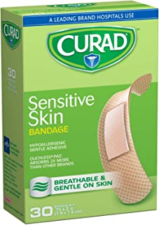 Curad Sensitive Skin,  0.75 Inches X 3 Inches,  30 count  (Pack of 3)
