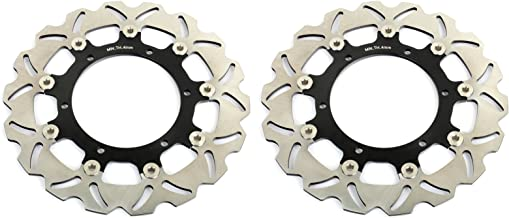 TARAZON 2x Front Brake Discs Rotors for Yamaha V-Star 1100 Classic Silverado 2003-2009 V-MAX 1200 1993-2007
