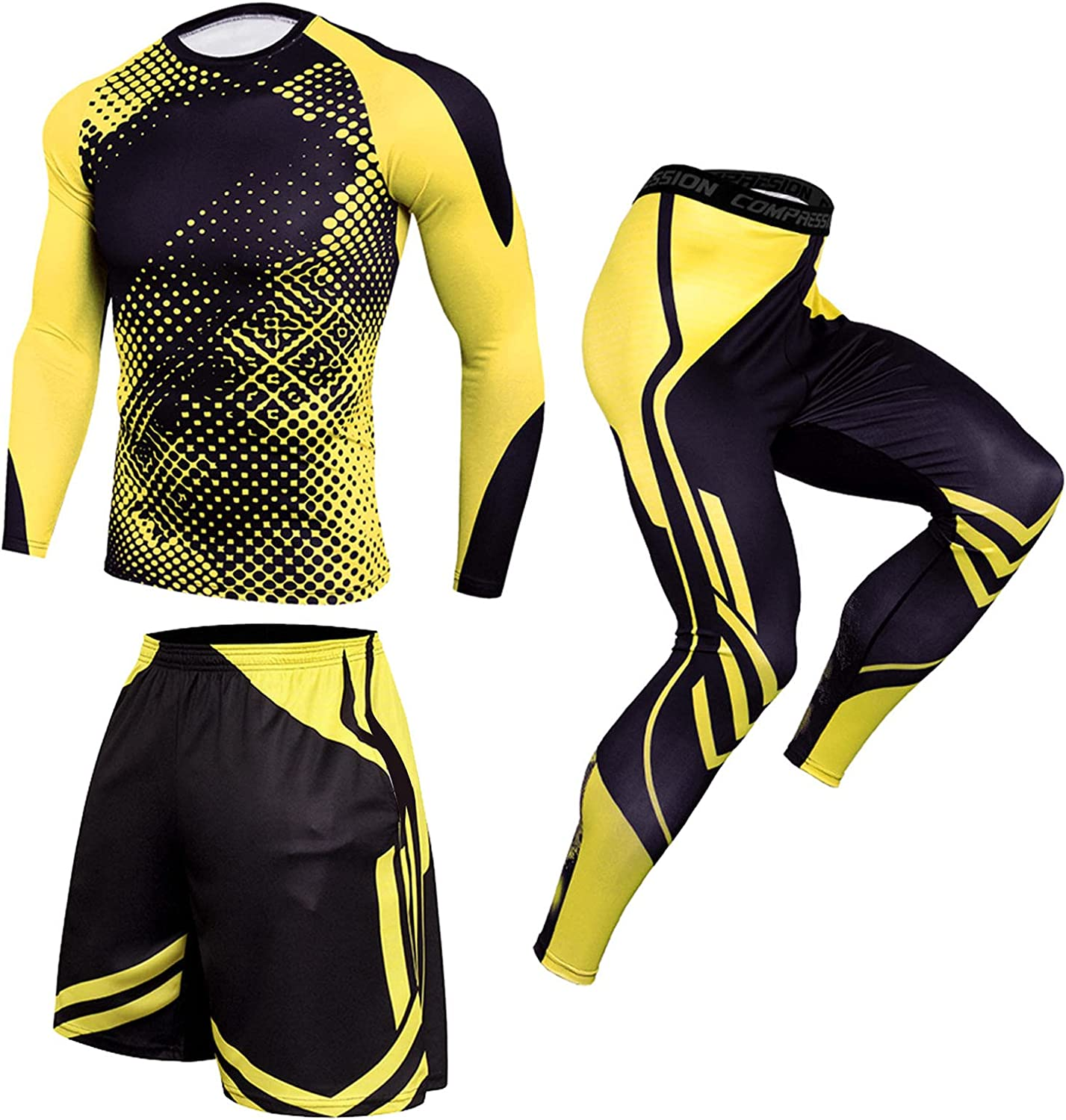 Maryia 2021 Mens Outdoor Outfits Summer Casual Long Sleeve Fashion Gym Workout Running Athletic Sports Set