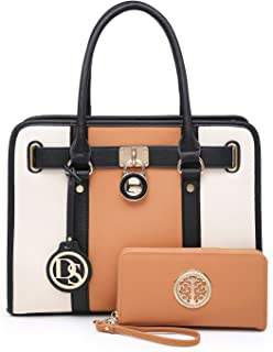 Women Fashion Purses Handbags Ladies Satchel Tote Shouler Bags with Matching Coin Purse Wallet