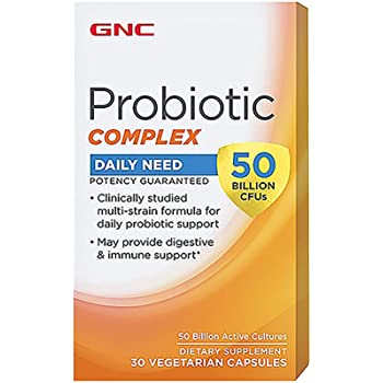 GNC Probiotic Complex Daily Need with 50 Billion CFUs, 30 Capsules, Daily Probiotic Support