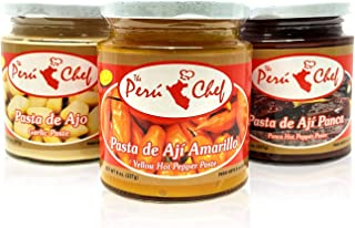 Ají Panca, Pasta de Ajo y Ají Amarillo Peruchef Set / Panca Pepper, Yellow Pepper & Garlic Paste