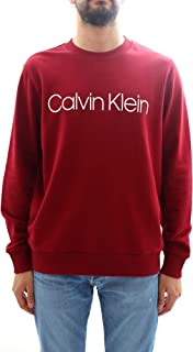 Calvin Klein Logo Crew-Neck Men's Sweatshirt, Perfect Black