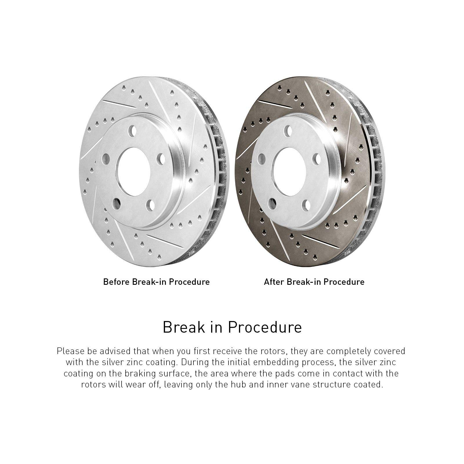 R1 Concepts KEDS10139 Eline Series Cross-Drilled Slotted Rotors And Ceramic Pads Kit Front