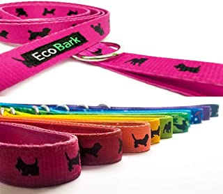 EcoBark Comfort Padded Dog Leash Strong Heavy Duty Handle for Pleasant Dog Walks When Pulling, Bright Colors for Safety - Great for Dog Training & Walking, Leash Lead Control