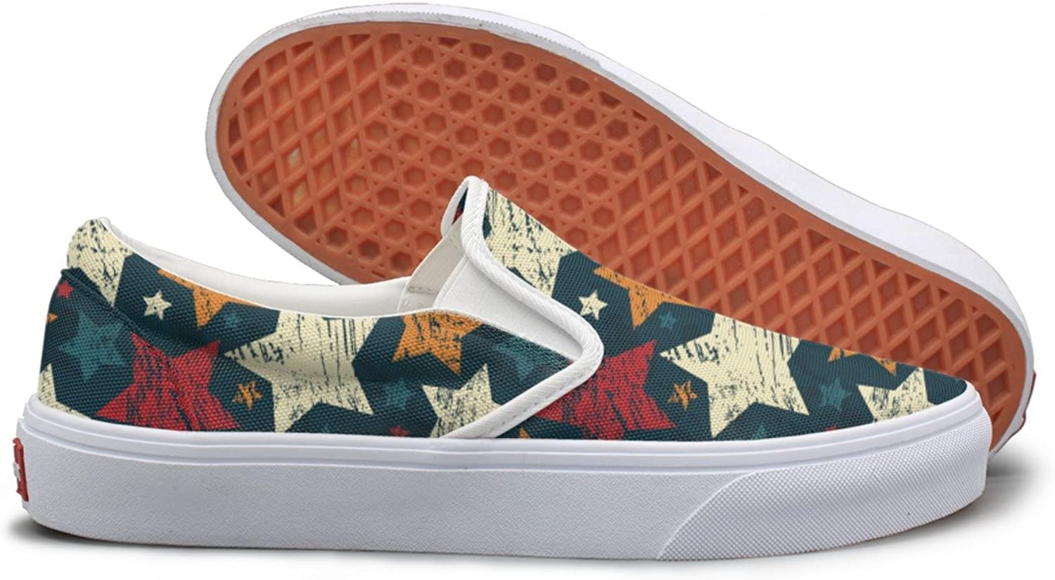 SEERTED colorful Grunge Stars Fashion Sneakers for Women