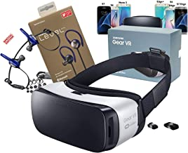 Samsung Galaxy 3D Gear VR (2015) by Oculus with Level Active Wireless Headset for - S6/S6 Edge/S7/S7 Edge/Note5 (Retail Pa...