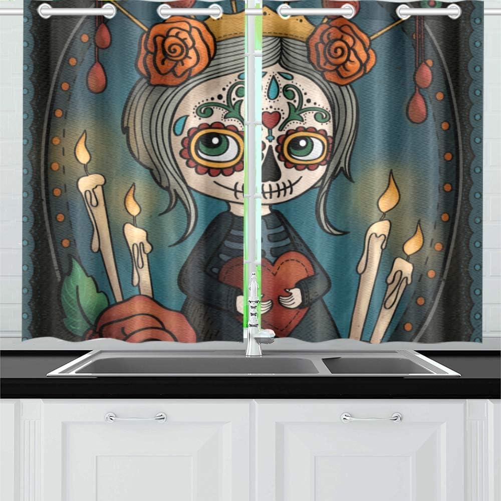 INTERESTPRINT Blackout Kitchen Window Dra Treatments Small Same day shipping Panel latest