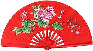 Demeras Tai Chi wachlarz chiński bambusowy wachlarz Kung Fu Walka Tai Chi Fan z feniksem i smokiem do treningu tańca Wushu