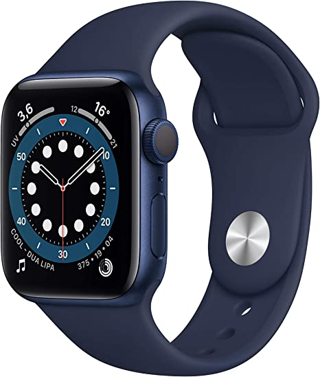 Amazon.nl-AppleWatch Series6 (GPS, 40-mm) kast van blauw aluminium - Donkermarineblauw sportbandje-aanbieding