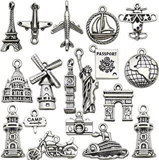 40pcs Motorcycle Rider Antique Silver Charms Pendants For Earrings Bracelet DIY