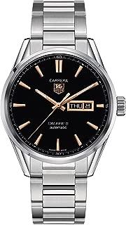 Carrera Calibre 5 Black Dial Stainless Steel Mens Watch WAR201CBA0723