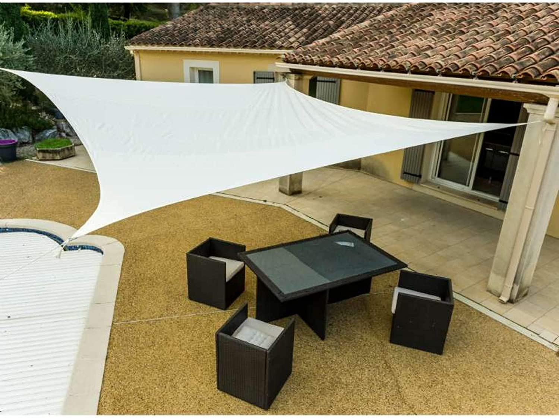 WerkaPro 11125 - Toldo calado (160 g/m2, poliéster, rectangular, 4 x 5 m), color gris