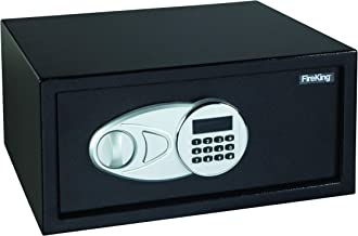 Fire King LT1507 Laptop Size Electronic Fire Safe with Key, 19.6 lbs, 1.2 Cu. Ft., Light Gray