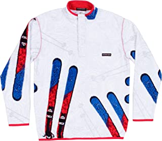 Southern Marsh Aspen Backcountry Pullover in White & Red Final Sale