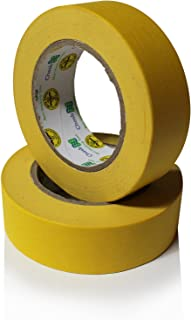 Insta Finish Performance Yellow Masking Tape - Crepe Paper Industrial Grade - Easy Release Auto Body Tape (1.5 inch) 1 Case of 24 Rolls