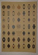 アンティーク風 時計コレクション レトロ ビンテージ ポスター