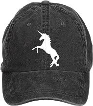 Woqucoo Vintage Unicorn Washed Cotton Baseball Cap Adjustable Hat