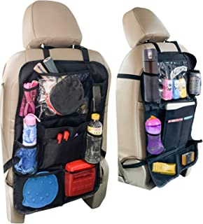 Car Back Seat Organizer and Storage - Passenger Back Seat Organizer - Car Tablet Holder for Kids - Kick Mat Organizer for ...