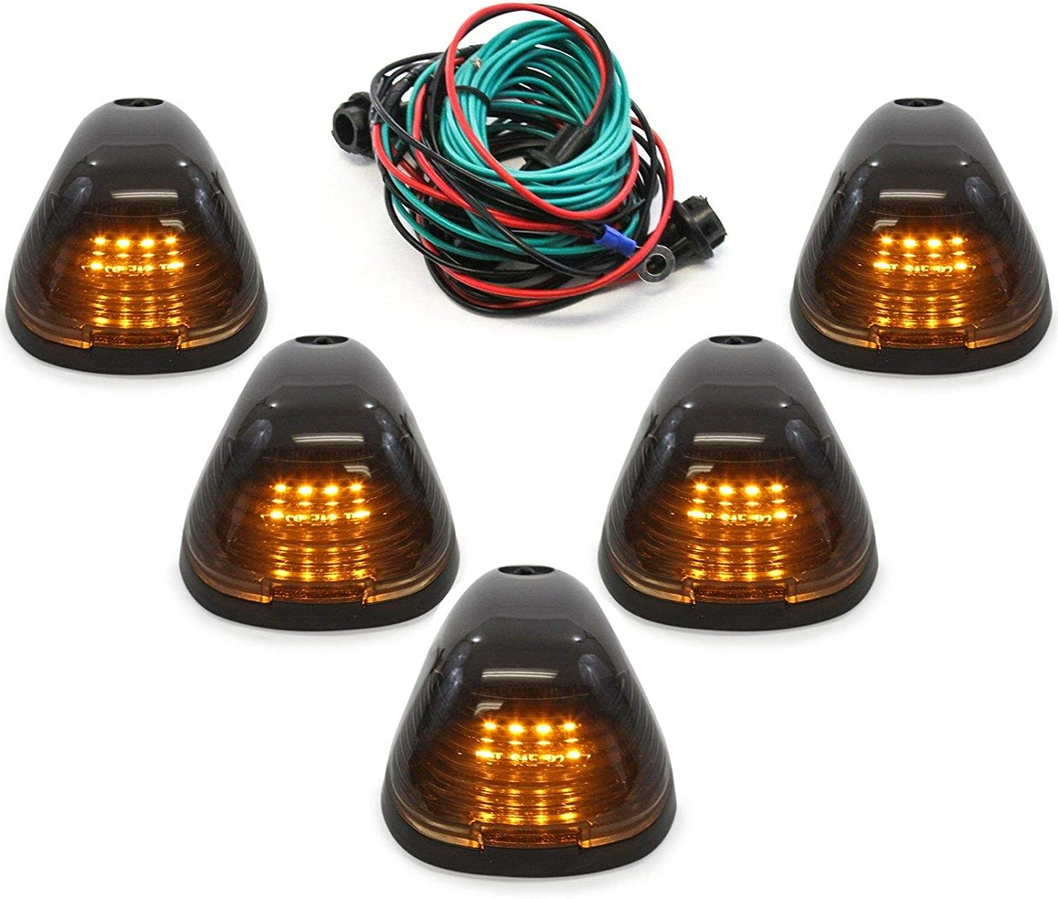 Cab 5 popular Marker Roof Clearance Lights Sup Smoked Tucson Mall Ford for 99-16 LED
