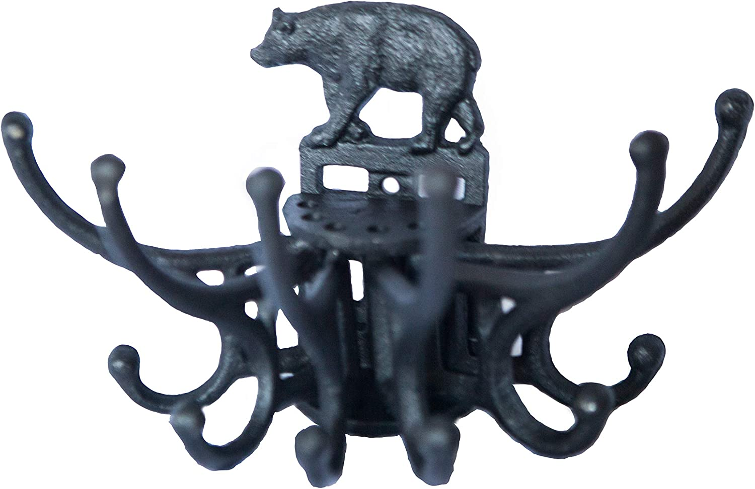 Bear Coat Hanger Wall Hook. Spinning Sale special price Iron Cast Free Year-end gift Hanging