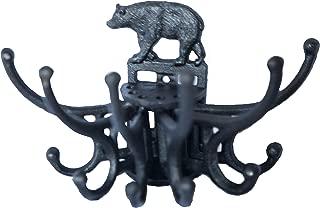 Bear Coat Hanger Wall Hook. Cast Iron Hanging Free Spinning Coat Hooks.